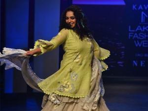 Nithya Menen Turns Showstopper For Kaveri At Lakme Fashion Week Summer Resort