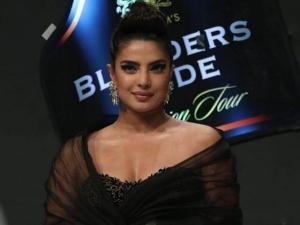 Priyanka Chopra Stunning Graphic Eyeliner And High Bun At Blenders Pride Fashion Tour