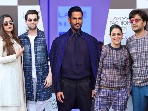 Kunal Khemmu Riteish Genelia And Neil Rukmini At Lakme Fashion Week Summer Resort