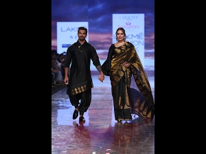 Bipasha Basu Grover And Karan Singh Grover At Lakme Fashion Week Summer Resort