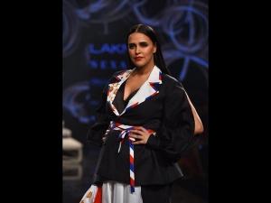 Neha Dhupia S Showstopper Avatar At Lakm Fashion Week Summer Resort