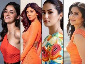 Katrina Kaif Ananya Panday And Other Divas In Orange Dresses