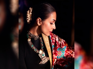 Malaika Arora Gifted A Paithani Saree By A Dance Contestant Rujuta Parents India S Best Dancers