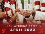 Wedding Dates In April