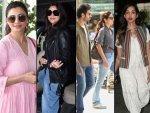 Daisy Shah Parineeti Chopra Tabu And Anupriya Goenka At Airport