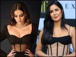 Katrina Kaif And Sonam Kapoor Ahuja In Black Corset Midi Dress