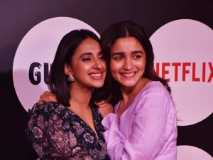 Alia Bhatt And Akansha Ranjan Kapoor At Guilty Premiere