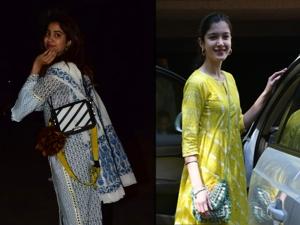Janhvi Kapoor And Shanaya Kapoor In Ethnic Suits