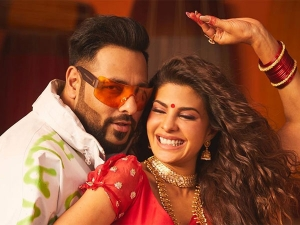 Jacqueline Fernandez S Traditional Saree From First Look Of Genda Phool Song