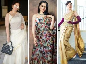 Kangana Ranaut S Saree Beauty Looks On Her Birthday