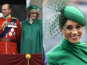 Meghan Markle S Green Dress For Commonwealth Service Is Like Princess Diana