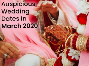 Auspicious Hindu Wedding Dates In March