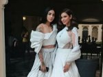 Four More Shots Please Stars Lisa Ray And Bani J In White Bridal Ensembles