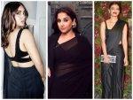 Radhika Apte Vidya Balan And Bhumi Pednekar Slay In Black Saree