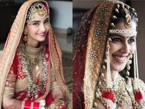 Sonam Kapoor Ahuja Anushka Sharma And Other Divas Expensive Wedding Attire