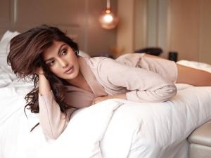 Jalebi Actress Rhea Chakraborty In A Red Pantsuit