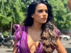 Jamai Raja Actress Nia Sharma In A Purple Dress In Throwback Picture