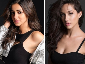 Ananya Panday And Nora Fatehi In Black Outfits