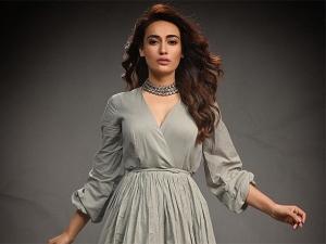 Qubool Hai Actress Surbhi Jyoti In A Grey Dress