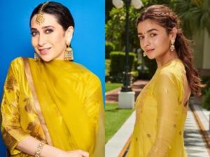 Karisma Kapoor Alia Bhatt And Other B Town Divas In Yellow Ethnic Ensembles