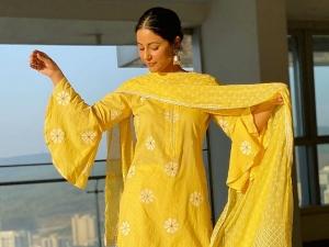 Hina Khan Wishes Her Fans Ramadan Kareem In Yellow Sharara