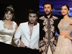 When Ranbir Kapoor Walked The Ramp With Ex Girlfriends Katrina Kaif Deepika Padukone