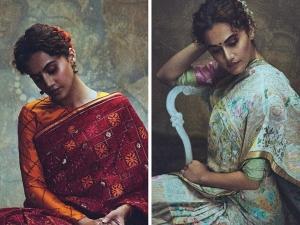 Thappad Actress Taapsee Pannu S Saree Photoshoot For Gaurang Shah