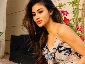 Mouni Roy Gives Us Glimpse Of Her Quarantine Sunset Days In A Blue Floral Dress