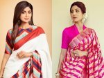 Shilpa Shetty Sizzles In Four Different Gorgeous Sarees