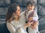 Sania Mirza And Her Son Izhaan Mirza Malik Twin In White On Eid
