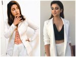 Priyanka Chopra And Parineeti Chopra In White Pantsuit