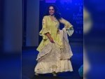 Nithya Menen Going To Auction Her Lakme Fashion Week Showstopper Dress