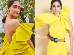 Sonam Kapoor Ahuja Hina Khan And Other B Town Divas In Yellow Outfits
