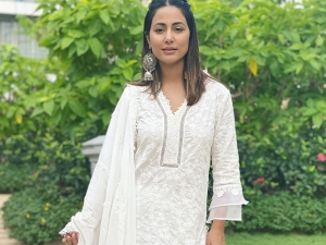 Hina Khan Gives Ethnic Fashion Goals In Her White Sharara Suit