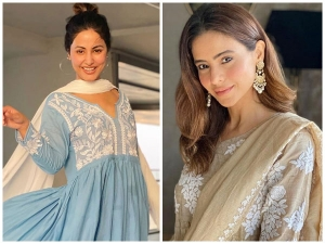 Former And Present Komolika Hina Khan And Aamna Sharif In Ethnic Outfits