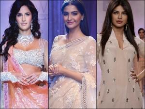 Katrina Kaif Sonam Kapoor Ahuja Priyanka Chopra Jonas In Neeta Lulla Outfits On Instagram