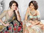 Geeta Basra And Taapsee Pannu In Colourful Lehengas By Archana Kochhar Instagram