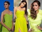 Janhvi Kapoor Malaika Arora And Alia Bhatt In Neon Gown