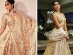 Sonam Kapoor Ahuja Pooja Hegde And Other Divas In Golden Bridal Lehenga