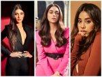 Aditi Rao Hydari Janhvi Kapoor And Shruti Haasan In Chic Outfits For Magazine Shoot