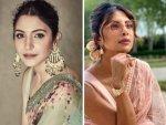Priyanka Chopra Jonas Anushka Sharma And Others In Chiffon Sarees
