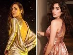 Janhvi Kapoor Malaika Arora And Other Divas In Metallic Gowns