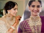 Sonam Kapoor Ahuja In An Ivory And Purple Lehenga