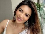 Bypass Road Actress Shama Sikander In An Elegant White Saree