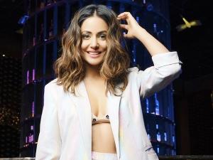 Hina Khan S Bold Pantsuit Look On Her Instagram