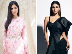 Katrina Kaif Mouni Roy And Other Divas In Belted Sarees