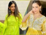Aamna Sharif And Niti Taylor In Yellow Ethnic Ensemble