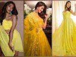 Radhe Shyam Actress Pooja Hegde In Yellow Outfits