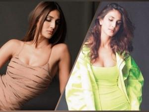 Shuddh Desi Romance Actress Vaani Kapoor In Nude And Green Bodycon Dresses