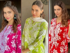 Komolika Aka Aamna Sharif In Three Vibrant Kurtis Of Same Design